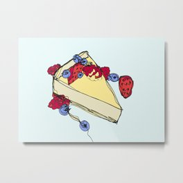 Cheesecake with Toppings Metal Print
