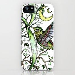 Hummingbird Garden Party iPhone Case