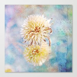 Dreamy Dried Flower Canvas Print