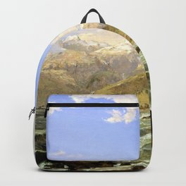 The Coast Of Genoa - Jasper Francis Cropsey Backpack