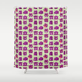 The Many Faces of Gengar Shower Curtain