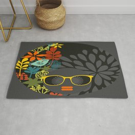 Afro Diva : Sophisticated Lady Gray Rug