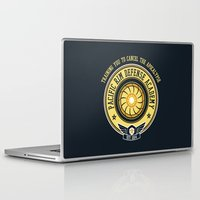 pacific rim Laptop & iPad Skins featuring Pacific Rim Defense Academy by fishbiscuit