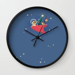 Laika Christmas Wall Clock