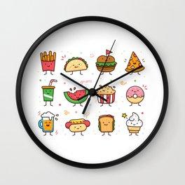 Food Doodle Wall Clock