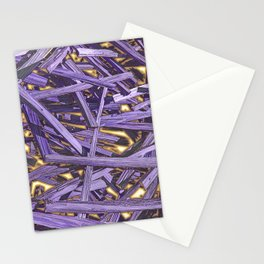 PURPLE KINDLING AND GLOWING EMBERS ABSTRACT Stationery Cards