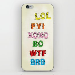 Some Internet Abreviations iPhone Skin