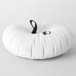 White and Black - Treble Clef Floor Pillow