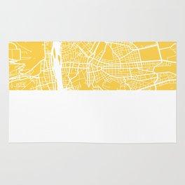 Prague map yellow Rug