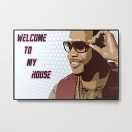 Welcome To My Mat Metal Print