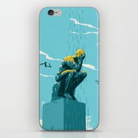 depression iPhone & iPod Skins featuring Depression by mark smith