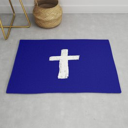 Christian Cross Chalk version Rug
