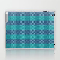 Pixel Plaid - Ice Sheet Laptop & iPad Skin