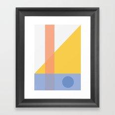 Geo Comp Framed Art Print