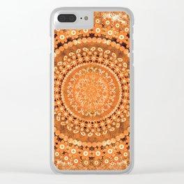 Boho Pumpkin Spice Mandala Clear iPhone Case