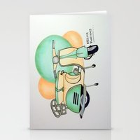 vespa Stationery Cards featuring Vespa  by Melissa Rodriguez