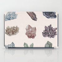 crystals iPad Cases featuring Crystals by Samantha Crepeau