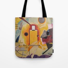 Wassily Study Repro yellow red blue 1925  Tote Bag