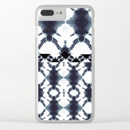 tie dye rotary Clear iPhone Case