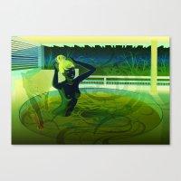 kitsune Canvas Prints featuring Kitsune by Katie Badenhorst