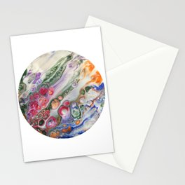 Rainbow Acrylic Swipe Stationery Cards