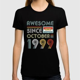 Vintage Awesome Since October 1999 20th Birthday T-shirt
