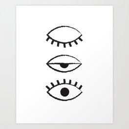 Eyelid Art Print