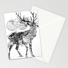 Deer Wanderlust Black and White Stationery Cards