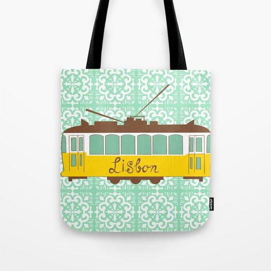 Lisbon Tram Tote Bag