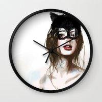 superheroes Wall Clocks featuring Superheroes SF by Dnzsea