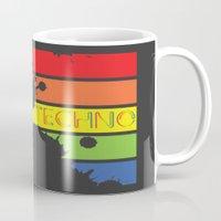 techno Mugs featuring Techno by Adnan Kostic