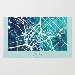 Dallas City Map Rug