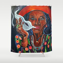 Old Gypsy Woman Shower Curtain