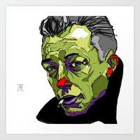 camus Art Prints featuring A. Camus by philip painter