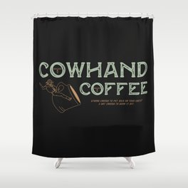 Cowhand Coffee - Vintage Mint & Mauve Shower Curtain