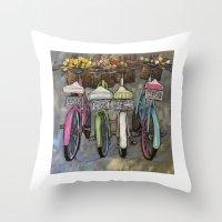 Greatest of These Bikes Throw Pillow