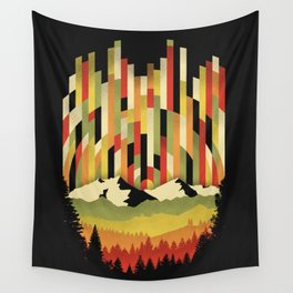 Sunset in Vertical Wall Tapestry