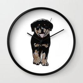 Rottweiler Love Wall Clock