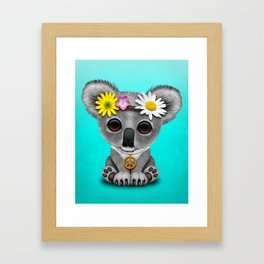 Cute Baby Koala Hippie Framed Art Print