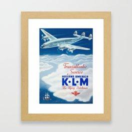 The Flying Dutchman - Vintage KLM Airline Poster Framed Art Print