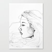 sketch Canvas Prints featuring sketch by Tricia Kibler