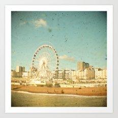 Brighton Wheel Art Print