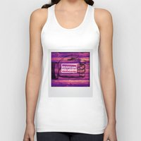 sarcasm Tank Tops featuring Sarcasm by Li9z
