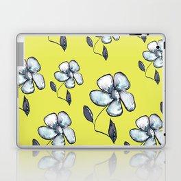 Modern Floral - Yellow Background Laptop & iPad Skin