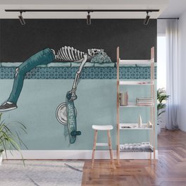 Skate 'til Late Wall Mural