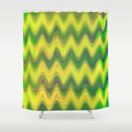 Agate Wave Green - Mineral Series 002 Shower Curtain