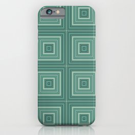 Green plaid  4 iPhone Case