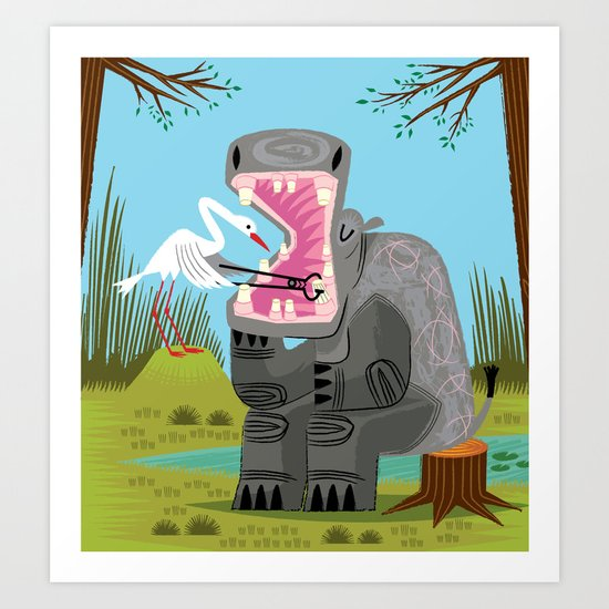 Hippopotamouth Art Print