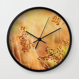 Dried Flowers Wall Clock