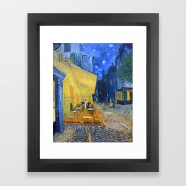 Vincent Van Gogh - Cafe Terrace at Night Framed Art Print